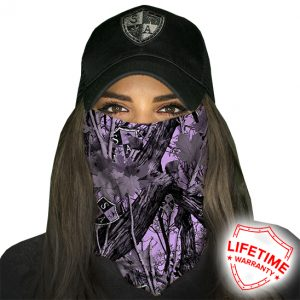 SA Purple Forest Camo Face Shield - Face Mask