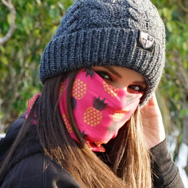 Pineapple Pink Face Shield - Face Mask