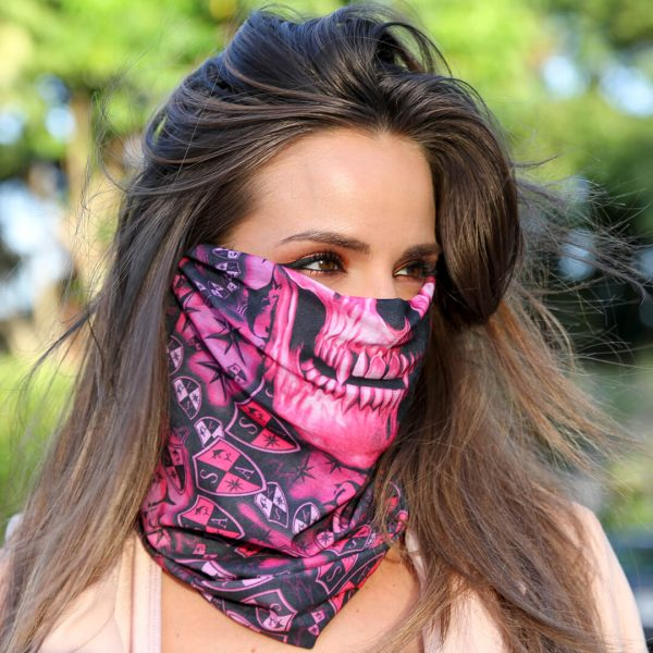 Stealthtech Camo Aurora Skull Face Shield - Face Mask