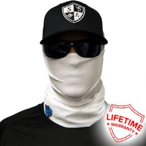 Tactical White Face Shield