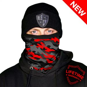 Frost Tech™ | Fire Military Camo Fleece Face Shield