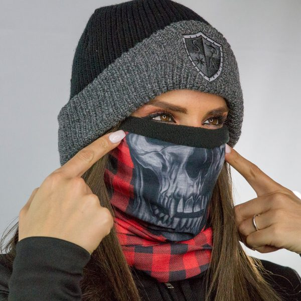 Frost Tech™ | Lumberack | Red Skull Fleece Lined Face Shield™