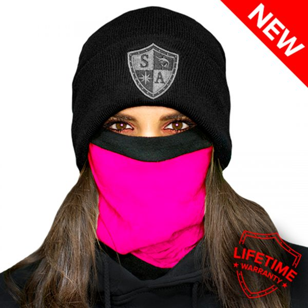 Frost Tech | Tactical | Neon Pink Fleece Face Shield