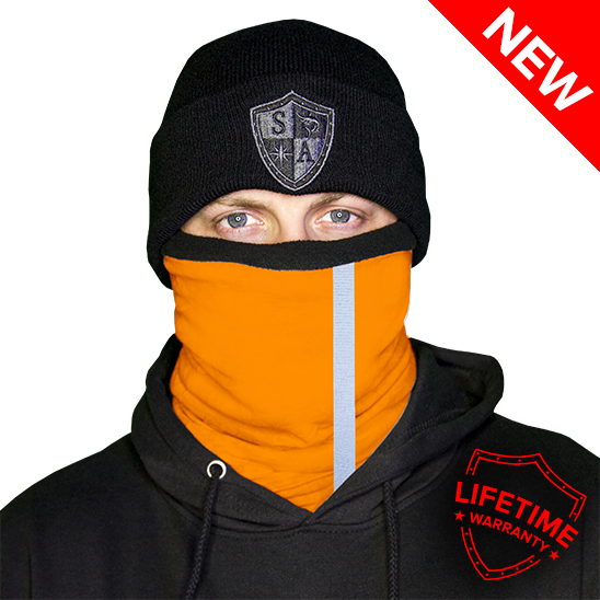 Frost Tech | Reflective | Electric Orange Fleece Face Shield