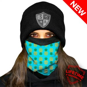 Frost Tech™ | Pineapple | Turquoise Fleece Face Shield
