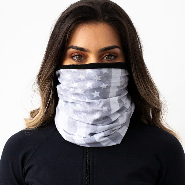 Frost Tech™ | Whiteout American Flag Fleece Face Shield
