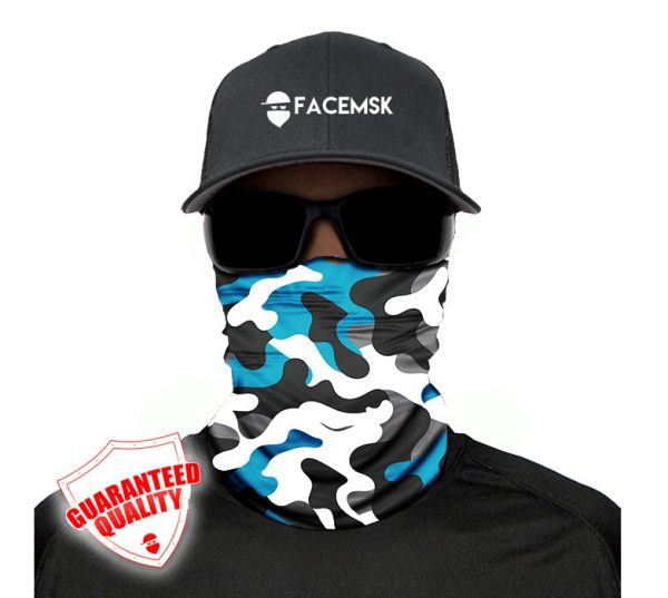 Aero Military Camo - FaceMSK Mask - Face Shield