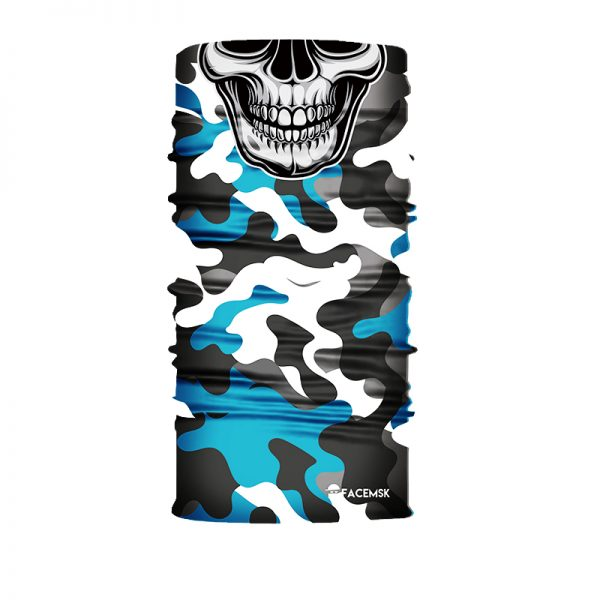 Aero Military Camo Skull - FaceMSK Mask - Face Shield