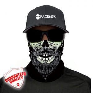 Bearded Skull Face Mask - Face Shield