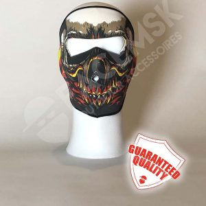 Flaming Skull Neopreen Full Face Mask