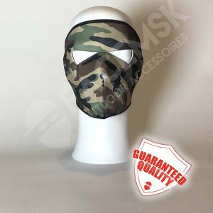 Green Military Camo Neopreen Full Face Mask