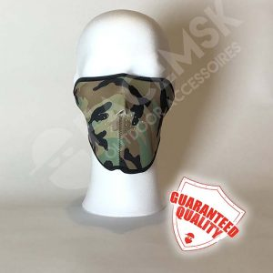 Green Military Camo Neoprene Half Face Mask