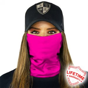 Tactical Neon Pink Face Shield - Face Mask