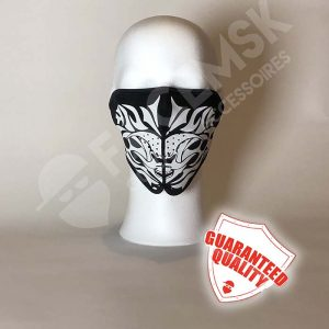 White Flames Neopreen Half Face Mask