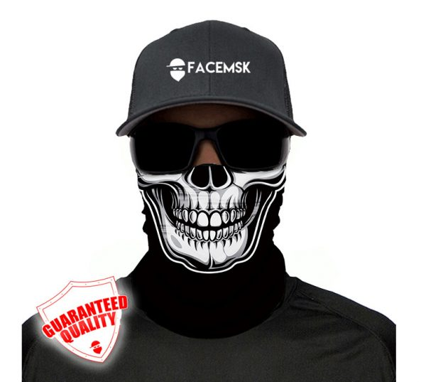 Black Skull Face Mask - Face Shield