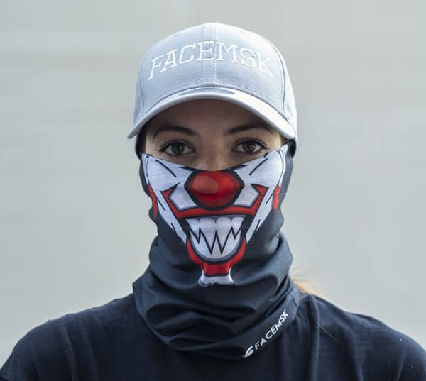 Droopy the Clown Face Mask - Face Shield