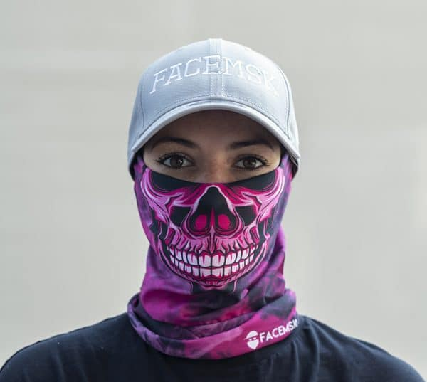 Smoking Pink Master Skull Face Mask