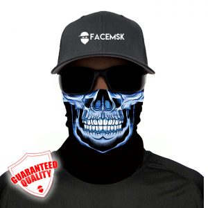 Master Skull Blue Face Mask - Face Shield