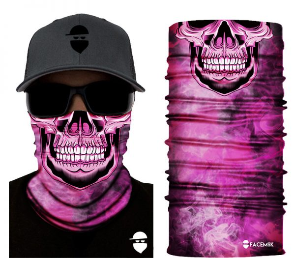 Smoking Pink Master Skull Face Mask - Face Shield