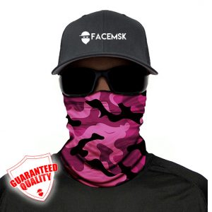 Pink Military Camo Face Mask - Face Shield