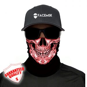 Bone Skull Pink Face Mask - Face Shield