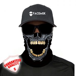 Biting Skull Face Mask - Face Shield