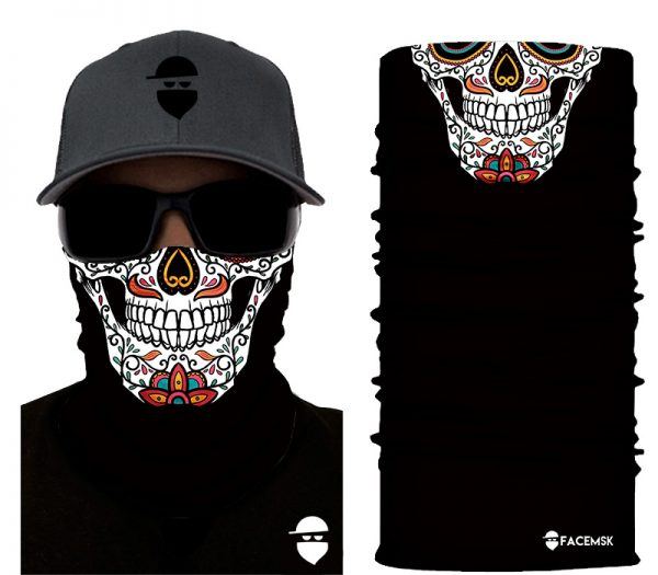 Sugar Skull Face Mask - Face Shield