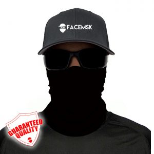Tactical Black Face Mask - Face Shield