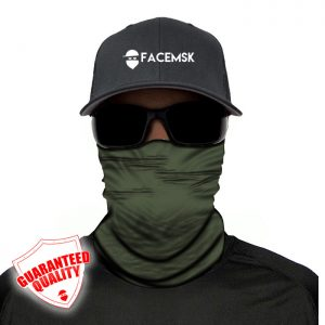 Tactical Green Face Mask - Face Shield