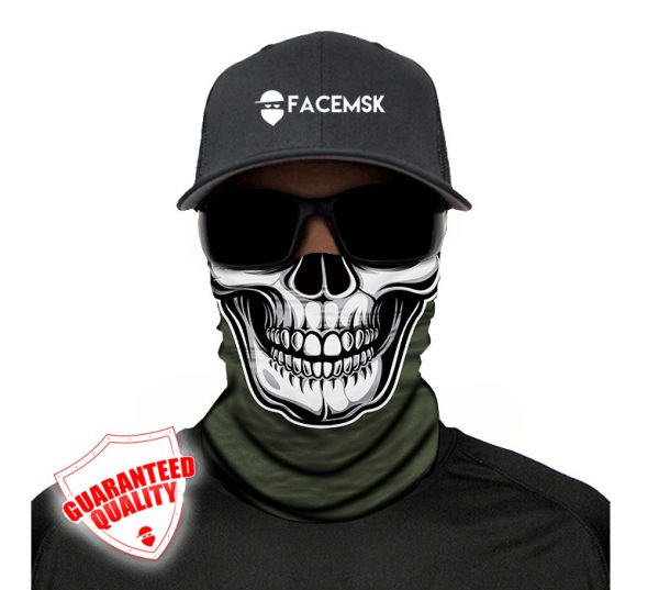 Tactical Green Skull Face Mask - Face Shield