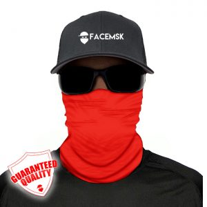 Tactical Red Face Mask - Face Shield