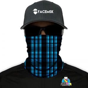 Lumberjack Blue Plaid Face Mask