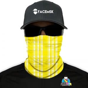 Lumberjack Yellow Plaid Face Mask - Face Shield