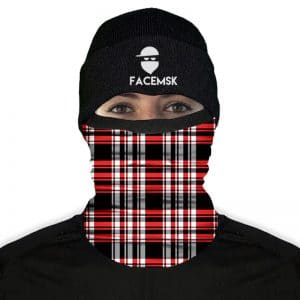 Lumberjack Red Plaid Fleece FaceMask