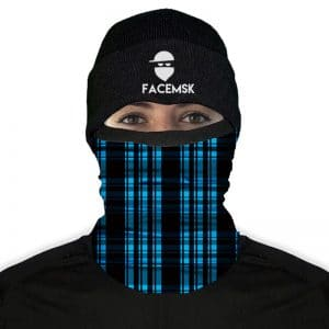 Lumberjack Blue Plaid Fleece Nekwarmer