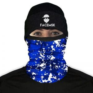 Blue & White Digi Camo Fleece Nekwarmer