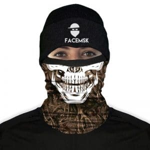 Antler Camo Skull Fleece Mask