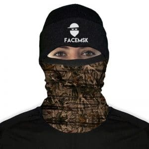 Antler Camo Fleece Face Mask