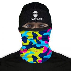 Electric Military Camo Nekwarmer - FaceMask