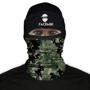 Green Digi Camo Fleece Buff - Nekwarmer