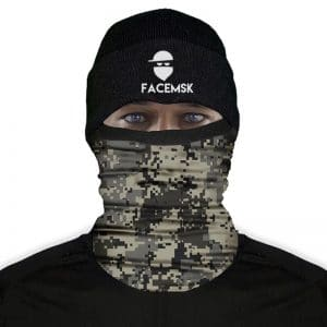 Grey Digi Camo Fleece Mask - Fleece Buff