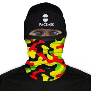 Rasta Military Camo Fleece Mask