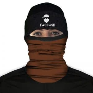 Tactical Brown Fleece Mask - Fleece Buff