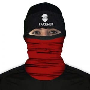 Tactical Burgundy Face Mask - Nekwarmer
