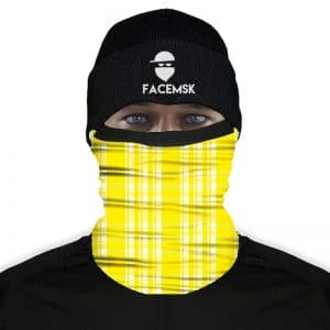 Lumberjack Yellow Plaid Fleece Nekwarmer