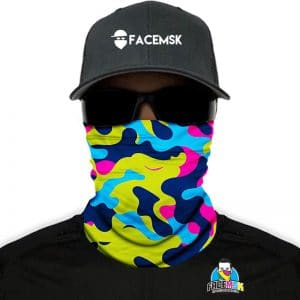 Electric Camo Face Mask - Nekwarmer